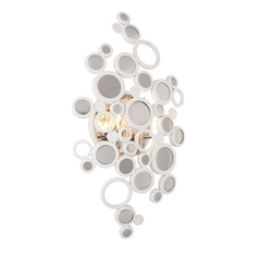Art Deco Sconce White Fathom by Corbett Lighting