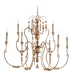 Quorum Lighting Quorum Lighting Salento French Umber Chandelier 6206-9-94