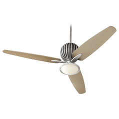 Quorum Lighting Alumina Brushed Aluminum Ceiling Fan with Light