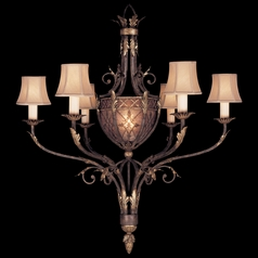 Fine Art Lamps Villa 1919 Umber with Gilded Accents Chandelier