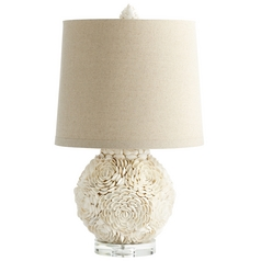 Cyan Design Mum White Table Lamp with Drum Shade