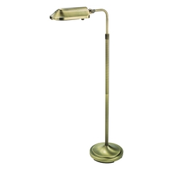 Brushed Brass Adjustable Task / Reading / Hobby Floor Lamp