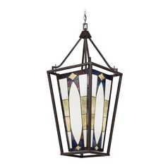 Kichler Lighting Kichler Lighting Denman Olde Bronze Pendant Light with Rectangle Shade 65421