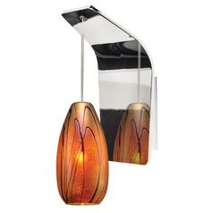 WAC Lighting Willow Chrome LED Sconce