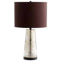 Cyan Design Surrey Golden Crackle Table Lamp with Drum Shade