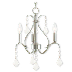 Livex Lighting Caterina Brushed Nickel Mini-Chandelier