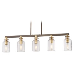 Edison Bulb Island Light Bronze w/ Gold Highlights 36-Inch by Minka Lavery