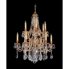 Crystorama Lighting Crystal Chandelier in Olde Brass Finish 2712-OB-CL-S