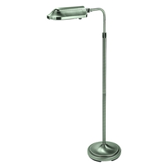 Verilux Lighting Adjustable Task / Reading / Hobby Floor Lamp in Brushed Nickel Finish VF03GG1