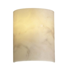 Sconce Wall Light with Alabaster Glass