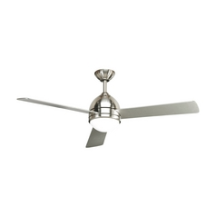 Progress Modern Ceiling Fan with Light with White Glass