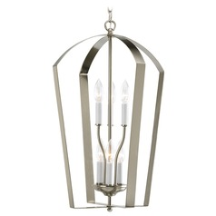 Progress Lighting Progress Lantern Pendant Light in Brushed Nickel Finish P3929-09