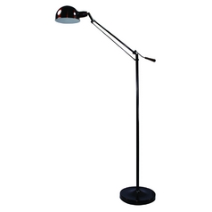 Adjustable Pharmacy Task / Reading / Hobby Floor Lamp in Bronze Finish