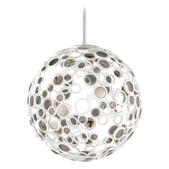 Corbett Lighting Fathom White LED Pendant Light with Globe Shade