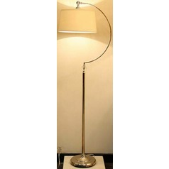 Lite Source Dickens Antique Brass Floor Lamp with Drum Shade