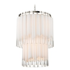 Hudson Valley Lighting Tyrell Polished Nickel Pendant Light with Cylindrical Shade