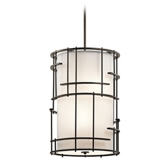 Kichler Lighting Tremba Olde Bronze Pendant Light with Cylindrical Shade