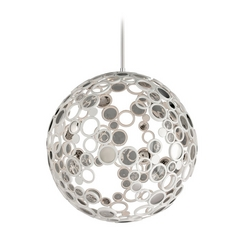 Corbett Lighting Fathom White Pendant Light with Globe Shade