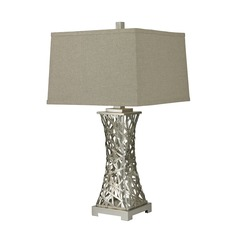 Dimond Lighting Silver Leaf Table Lamp with Square Shade