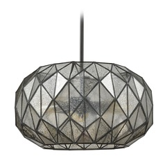 Mercury Glass Oblong Pendant Light Oil Rubbed Bronze Elk Lighting