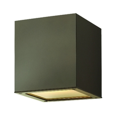 Modern Close To Ceiling Light with Etched in Bronze Finish