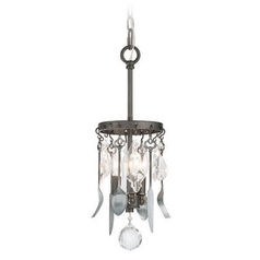Troy Lighting Bistro Graphite with Antique Pewter Flatware Mini-Pendant Light