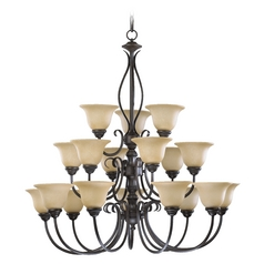 Quorum Lighting Spencer Toasted Sienna Chandelier