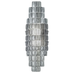 Fine Art Lamps Constructivism Hand-Applied Silver Sconce