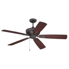 Ellington Dunbar Espresso Ceiling Fan Without Light