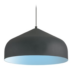Modern Graphite and Blue LED Pendant 3000K 1502LM