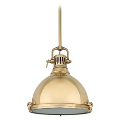 Nautical Pendant Light in Aged Brass Finish