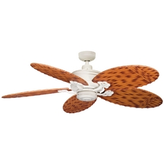 Kichler Ceiling Fan Without Light in Satin Natural White Finish