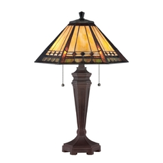 Table Lamp with Tiffany Glass