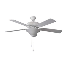 Ellington Fans Ceiling Fan with Light with Alabaster Glass in Matt White Finish E-DCF52MWW5C1