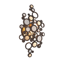 Art Deco LED Sconce Bronze Fathom by Corbett Lighting