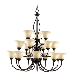 Quorum Lighting Spencer Mystic Silver Chandelier