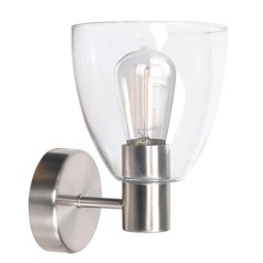 Kenroy Home Edis Brushed Steel Sconce