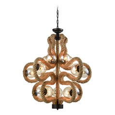 Dimond Maestro Natural Rope Chandelier