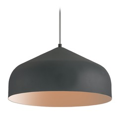 Modern Graphite and Copper LED Pendant 3000K 1502LM
