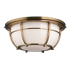 Hudson Valley Lighting Conrad Aged Brass Flushmount Light