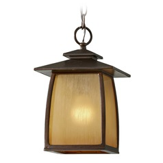 Feiss Lighting Wright House Sorrel Brown LED Outdoor Hanging Light