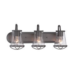 Designers Fountain Darby Weathered Iron Bathroom Light