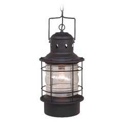 Hyannis Textured Black Outdoor Hanging Light by Vaxcel Lighting