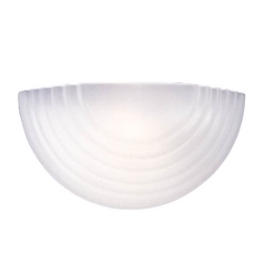 Half-Sphere Wall Sconce Light with Etched Glass