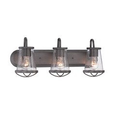 Seeded Glass Bathroom Light Iron Designers Fountain Lighting