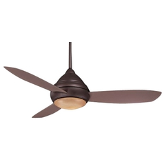 Minka Aire Wet Rated Ceiling Fan with Three Blades and Light Kit F577-ORB