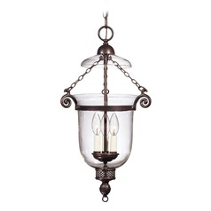 Savoy House Old Bronze Pendant Light with Bell Shade