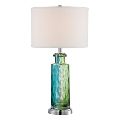 Lite Source Tynice Chrome / Multi Table Lamp with Drum Shade