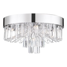 Modern Flushmount Light Polished Chrome Platinum Collection Venus by Quoizel Lighting