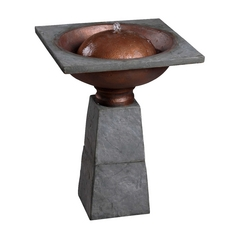 Outdoor Fountain in Slate Finish